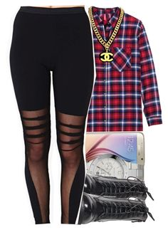 """"""" The dance you doin is dumb how they do it where you from sticking out your tongue girl but you know you're too young a bunch of girls do it and the sh*t looks fun that's how they do it where we from you know it don't start till one """" by swagger-on-point-747 ❤ liked on Polyvore featuring H&M, Samsung, MICHAEL Michael Kors and Chanel"""