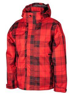 c582c14e9096 Surfanic Boys Gnarly Checkers Jacket Red