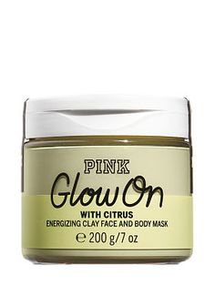 Glow On Energizing Clay Face & Body Mask Brighten up Buttercup. Perk up a tired complexion with Yellow Clay and Citrus Extracts. A burst of White Tea energizes. Mask Cream, Fancy Makeup, Bff Birthday Gift, Body Mask, Clay Faces, Perfume, Facial, Lip Care, Bath And Body Works