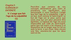 Section V - L'usage que fait l'ego de la culpabilité by Pierrot Caron via slideshare