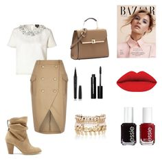 """""""Untitled #29"""" by lost-a-j on Polyvore featuring Giambattista Valli, River Island, Sole Society, Essie, Marc Jacobs, Bobbi Brown Cosmetics, women's clothing, women, female and woman"""