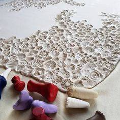 Image result for how to use bettina welker texture stamps