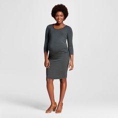 Maternity Striped 3/4 Sleeve Tee Dress