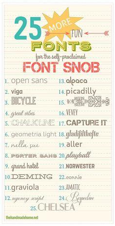 25 Fun Fonts