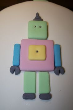 Fru Sol: Robot tårta / Robot cake