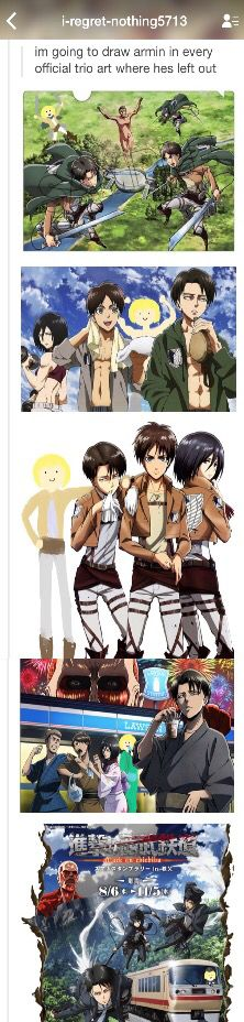 The last one, tho! (SnK Armin where he should be.)