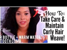 ▶ HOW TO: Take Care of Curly Hair Weave/Extensions - YouTube