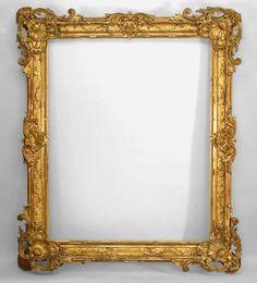 French Louis XV mirror wall mirror gilt