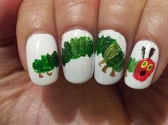 Very Hungry Caterpillar Nails!