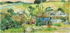 "I thought this Van Gogh painting could be an Irish village group of homes because of the bright lime greens  thatched roofs..."" though Ireland was not one of the countries the artist visited for painting:Van Gogh Gallery"