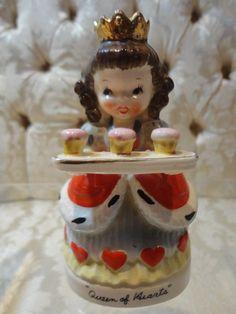 "Vintage Relco ""Queen of Hearts"" Nursery Rhyme figurine"
