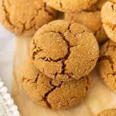 Gluten-Free Molasses Cookies!  Chewy, soft and sure to become your new go-to Christmas cookie!  #glutenfree #christmascookies #glutenfreecookies #molassescookies