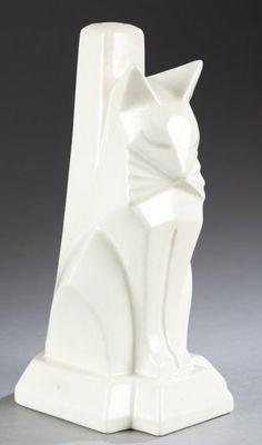 Waylande Gregory, modernist lamp, 1928, Cowan Pottery