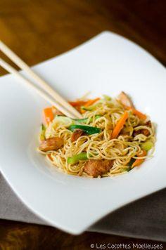 le wok de poulet aux légumes ( avec un peu de coriandre hachée à la fin pour le goût )
