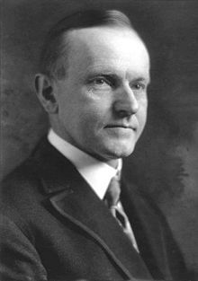John Calvin Coolidge, Jr. (July 4, 1872 – January 5, 1933) was the 30th President of the United States (1923–1929). A Republican lawyer from Vermont, Coolidge worked his way up the ladder of Massachusetts state politics, eventually becoming governor of that state. His conduct during the Boston Police Strike of 1919 thrust him into the national spotlight and gave him a reputation as a man of decisive action.