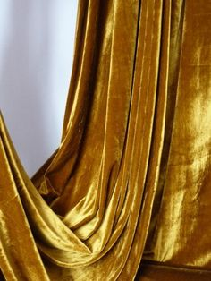 THESE CURTAINS  With Black, White, Bege Living Room (Gold And Silver Metal  Accents And Dark Wood) Mustard Velvet/Velour Stretch Spandex Lycra Fabric