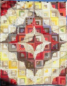 Four Red Corners - Ann's Scrap Quilts  gasitch@netscape.net