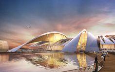 twelve architects win bid to build yuzhny greenfield airport in rostov province, russia - designboom | architecture & design magazine
