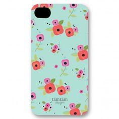 iPhone Case - Teal Poppy Flower