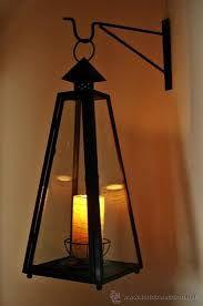 lamparas y candiles de hierro forjado - Búsqueda de Google Wedding Store, Diy Candles, Metal Crafts, Tripod Lamp, Light Art, Wrought Iron, Light In The Dark, Ceiling Lights, Lighting