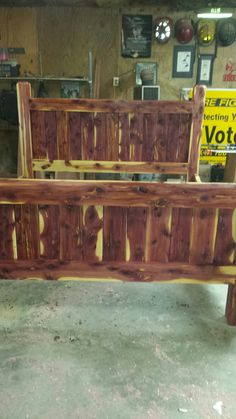bedroom furniture Cedar Post Bettrahmen Information on ceiling fans for your home Article Body: Ceil Post Bed Frame, Bed Frames, Cedar Table, Cedar Posts, Slanted Ceiling, Outside Patio, Mobile Home, Future House, Bedroom Furniture