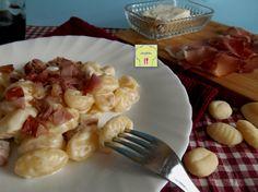Gnocchi gorgonzola mascarpone e speck