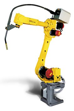 Check out the details of the FANUC ARC Mate robot available at RobotWorx. Industrial Robotic Arm, Industrial Robots, Fanuc Robotics, Robot Revolution, Robot Factory, Cnc Router Plans, Robotic Welding, Real Robots, Robotic Automation