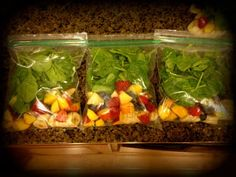 Breakfast Smoothie Prepping Recipes! Great substitute for coffee or energy drinks, and an awesome way to eat clean during the week. FRUIT AND SPINACH healthy smoothie recipes *My Slice of Sunday