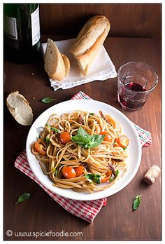 Linguine with Sun-dried Tomatoes |#pasta #italian #meatlessmonday #vegan #sundriedtomatoes