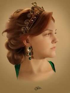 Hurrem Sultan by SalmaElArt Sultan Pictures, Fangirl Movie, Meryem Uzerli, Bridal Makeover, Ottoman Empire, Charlize Theron, Green Eyes, Red Hair, Most Beautiful