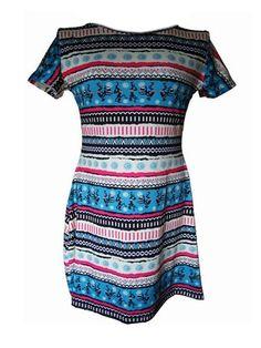 Color Block Classical Round Neck Plus Size Shift Dress