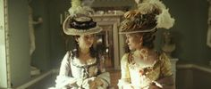 Keira Knightley and Hayley Atwell in The Duchess The Duchess Of Devonshire, Hayley Atwell, Georgian Era, Keira Knightley, 18th Century, Captain Hat, Celebs, Hats, Blog