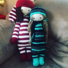 doll mods made by Claire D. / based on a lalylala crochet pattern