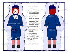 Victorian Andy Cut and Sew Doll Ornaments - Linda Walsh Originals - Custom Fabric Designs By Linda Walsh