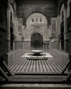 Attarine Medersa, Fez, by Katie Cooke, taken with a pinhole camera. ©Katie Cooke