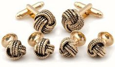 Classic Woven Gold-Tone Knot Cufflink and Stud Set by Cuff-Daddy Cuff-Daddy. $49.99. Arrives in hard-sided, presentation box suitable for gifting.. Made by Cuff-Daddy
