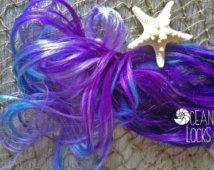 Underlights, Peekaboo Highlights, Purple Hair, Lavender Hair, Ombre Hair, Blue Hair, Turquoise Hair, Clip In Hair Extensions