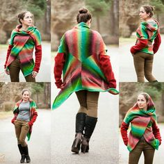 Check out this item in my Etsy shop https://www.etsy.com/listing/260851007/knitted-free-form-cardigan-transformer