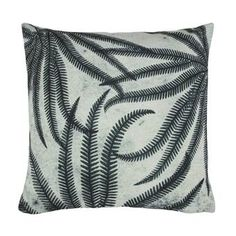 HKliving Printed Ferns Kussen 45 x 45 cm 16 Floral Cushions, Printed Cushions, Velvet Cushions, Scatter Cushions, Throw Pillows, Rustic Ceramics, Cali Style, Lets Stay Home, White Wicker