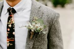 Succulent boutonniere - See more of this bohemian, modern, rustic, summer wedding on The Knot! Casual Wedding, Summer Wedding, Succulent Boutonniere, Boutonnieres, Succulent Wedding Cakes, Wedding Planner, Destination Wedding, Honeymoon Style, Blush Bouquet