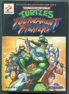 Teenage Mutant Ninja Turtles Tournament Fighters Box Shot For Genesis
