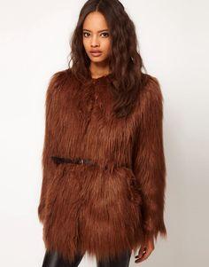 ... › Sale › Jackets & Coats › ASOS Shaggy Faux Fur Belted Coat