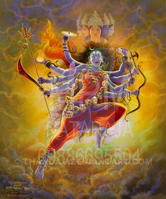 I put this under fan art because I'm a fan of Radha. She is the goddess of He who is the god of the entire creation. She is the goddess of love, and origin of beauty. She is the beloved consort of . Kali Goddess, Goddess Of Love, Egyptian Goddess, Kali Hindu, Hindu Art, Lord Durga, Durga Maa, Durga Painting, Mother Kali