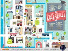 Oxford Map #illustration #editorial