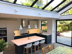 Hildreth — Utopia Kitchens, The Bespoke Kitchen Co. Kitchen Diner Extension, Open Plan Kitchen Diner, Open Plan Kitchen Living Room, Kitchen On A Budget, Kitchen Layout, Kitchen Mats, Diy Kitchen Decor, Interior Design Kitchen, Bespoke Kitchens