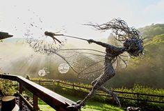 UK-based artist Robin Wight creates incredibly detailed fairy sculptures out of stainless steel wire