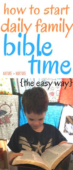 Our boys enjoyed daily family bible time so much, we made the commitment to do it every night - and thanks to this simple routine, it actually stuck! Click to read our simple structure and great resources.