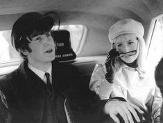 John and Cynthia leave JFK airport bound for the Plaza Hotel, New York on 7th February 1964.