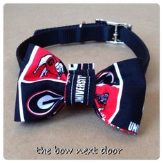 University of Georgia Dog bow for collar