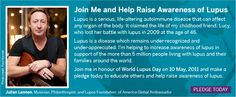 """Did you know that John Lennon's """"Lucy in the Sky with Diamonds"""" was inspired by a picture his son Julian drew of his childhood friend Lucy? Now, Julian Lennon is the Global Ambassador of the LFA because, tragically, Lucy lost her battle with lupus at age 46."""